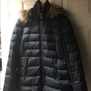 Michael Kors Navy down coat size M